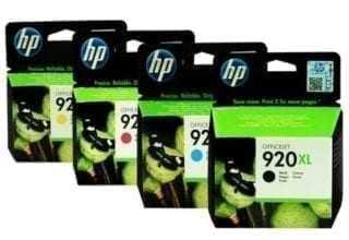 סט ראשי דיו מקורי HP 920XL