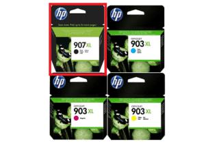 סט ראשי דיו מקורי HP 903XL+907XL