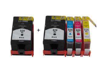 סט תואם HP 920XL + HP920 שחור