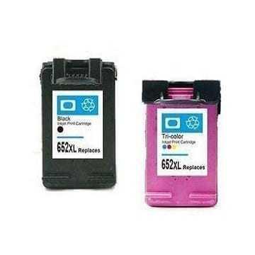 זוג ראשי דיו: שחור+צבעוני HP 652XL