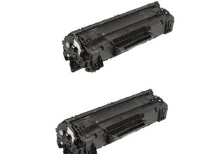 2 טונרים תואמים שחורים hp 36a/ cb436a