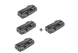 3 טונרים hp cf280X + טונר נוסף חינם
