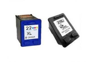 דיו שחור וצבעוני HP 21XL+22XL