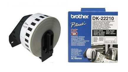 מדבקות למדפסת brother DK-22210