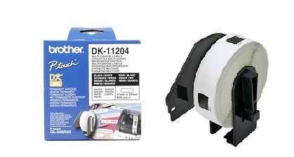 מדבקות למדפסת brother dk-11204